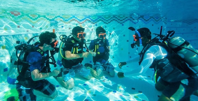In Pool SCUBA Training at Sandals and Beaches Resorts